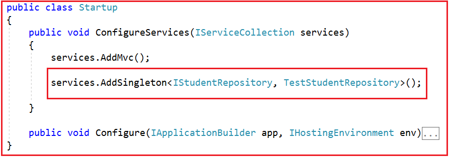 Registering a Service with ASP.NET Core Dependency Injection Container