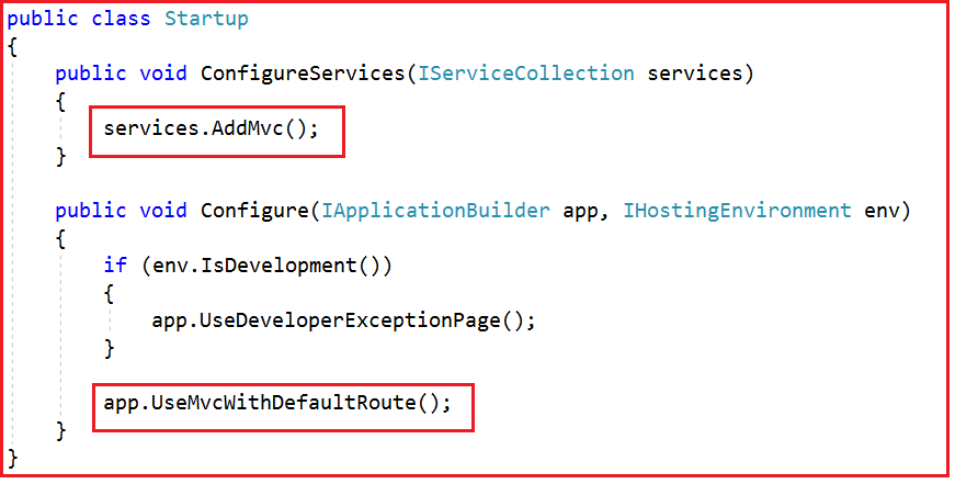 Registering MVC Services and Middleware