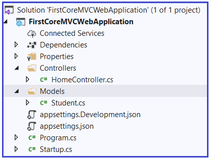 Adding Models Folder in ASP.NET Core Application