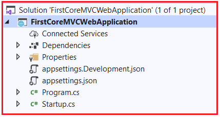 Creating Empty ASP.NET Core Web Application