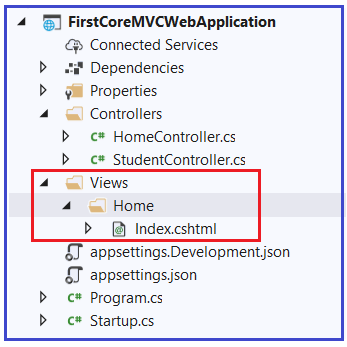 How to create View in ASP.NET Core?