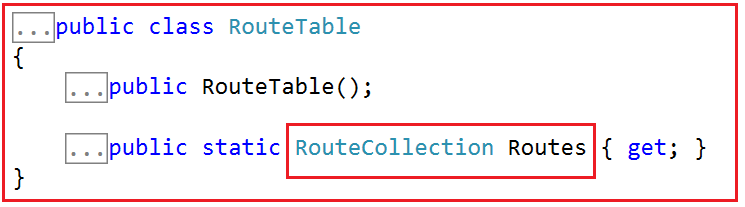 Route Table in ASP.NET MVC Application