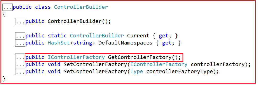 GetControllerFactory() method of the ControllerBuilde