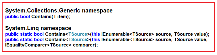 Linq Contains Method in C# with Examples - Dot Net Tutorials