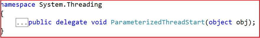 ParameterizedThreadStart Delegate Definition