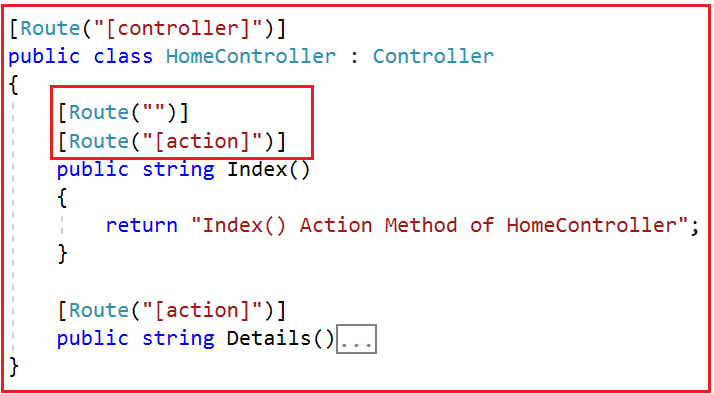 ASP.NET Core Attribute Routing using Tokens