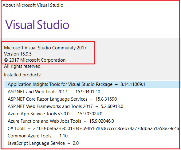 How to Check and Upgrade the Version in Visual Studio
