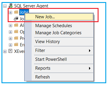 Creating Job using SQL Server Agent