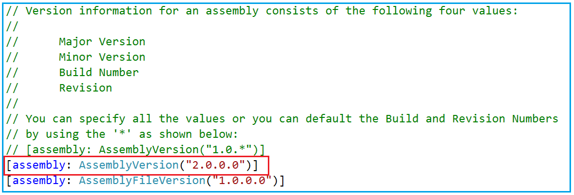 Changing Assembly Information in C#