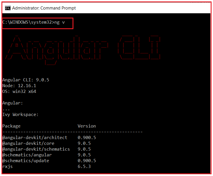 How to verify Angular CLI is installed correctly or not