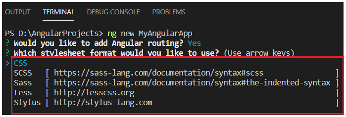Adding CSS in Angular Project