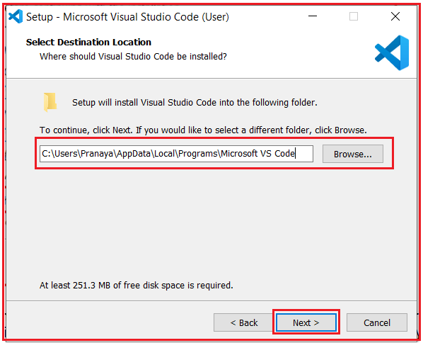Installing Visual Studio code to develop angular application