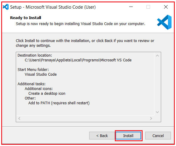 Installing Visual studio code step by step to develop angular application