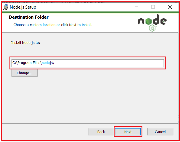 Installing nodejs for angular environment setup