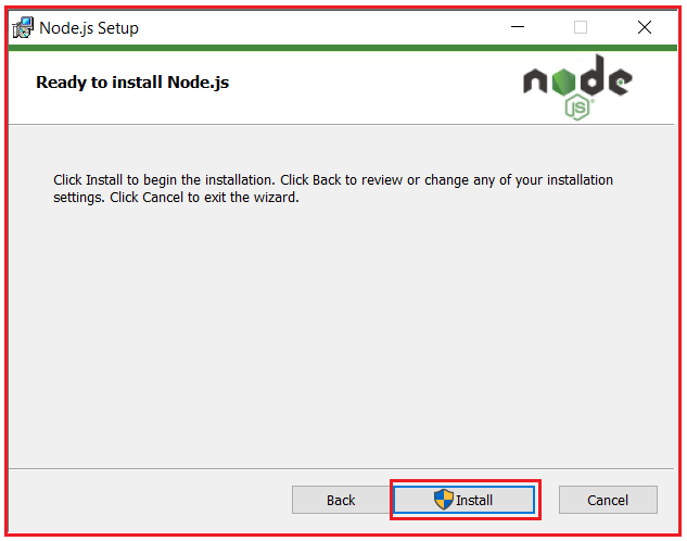step by step procedure to install nodejs in windows operating system