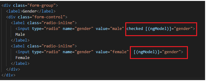 How to select a radio button checked by default in Angular?