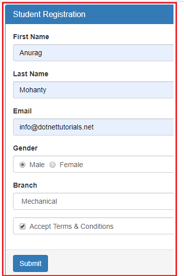 Example to understand DropDownList in Angular Template Driven Forms
