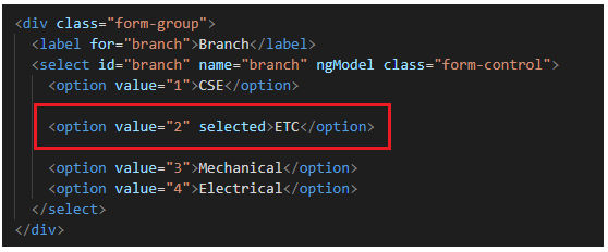 How to have one of the dropdownlist item selected by default in Angular?