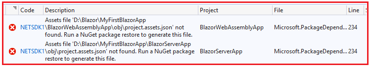 Creating Blazor App in Visual Studio