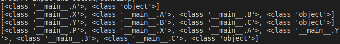 Method Resolution Order Example in Python