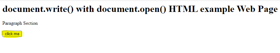 document.open() in JavaScript Output
