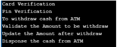Implementing ATM Machine