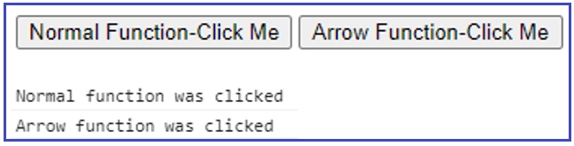 JavaScript Arrow function with Anonymous function example