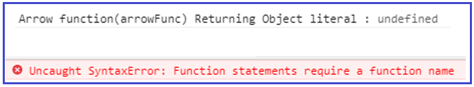 JavaScript Array Function Returning Object Literals