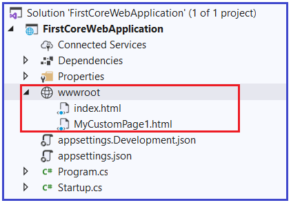 How to set Custom HTML Page as the Default Page?