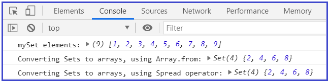 using Array.from
