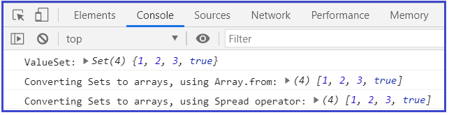 using Array.from and Spread operator