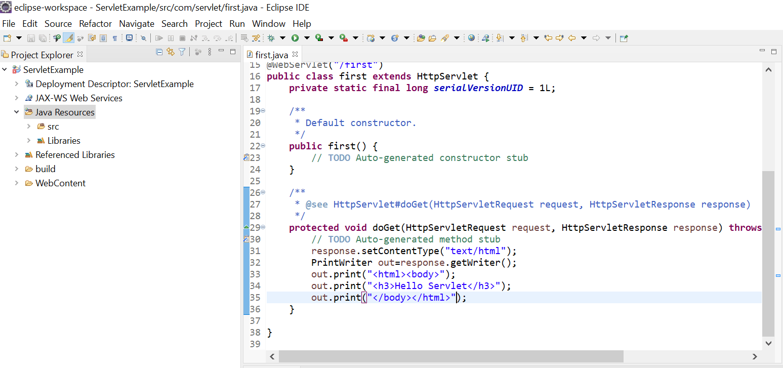How to Create a Servlet Application using Eclipse IDE