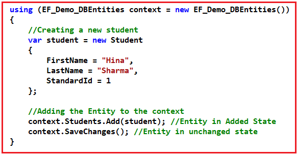 DbSet Add Method