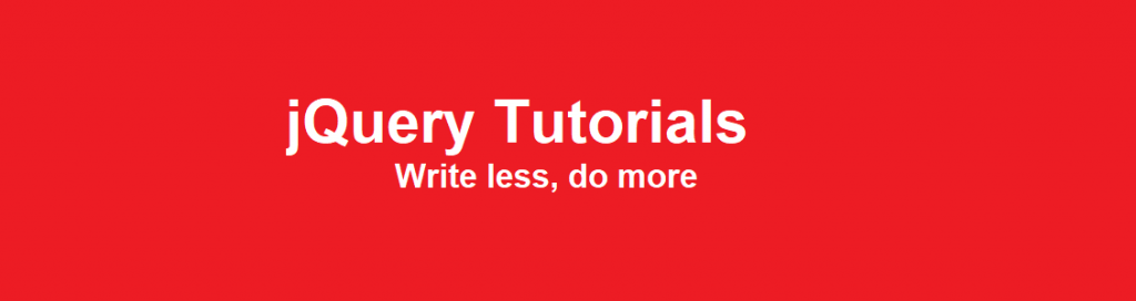 jQuery Tutorials For Beginners and Professionals