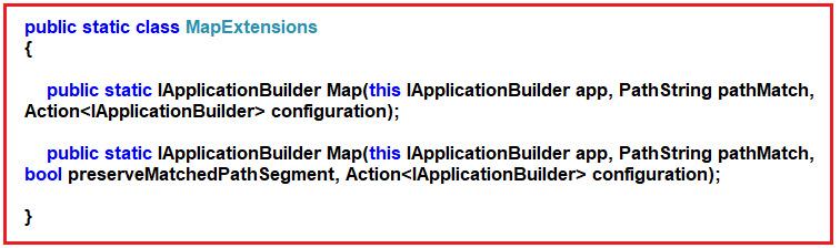 Map Extension Method in ASP.NET Core Application