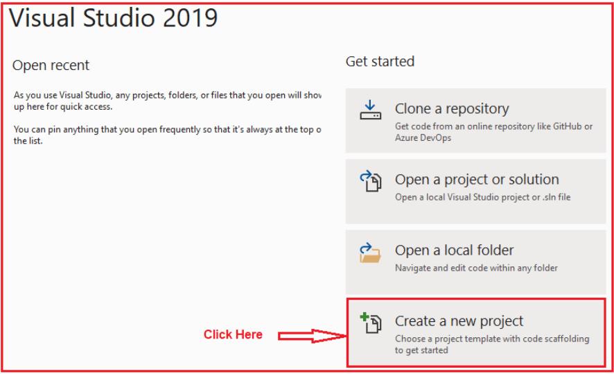 Creating ASP.NET Core Web API Project Using Visual Studio 2019