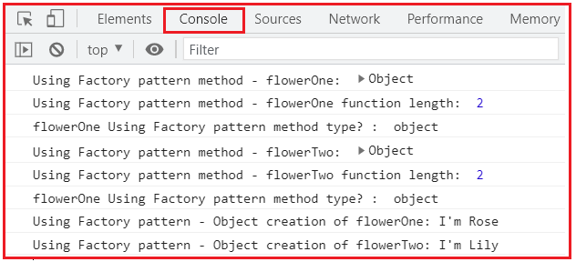 How to Create JavaScript Object Using Factory Pattern with an Example